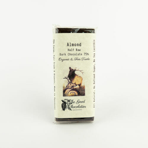 Almond Sea Salt Chocolate Bar Cover The Good Chocolatier